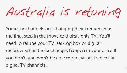 australia is retuning