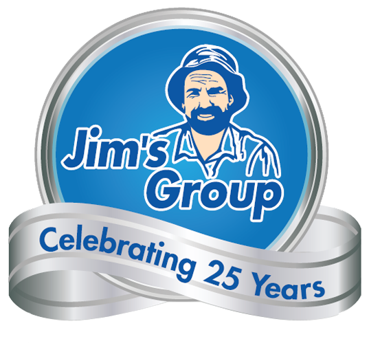 Jim's Group 25 Years Logo