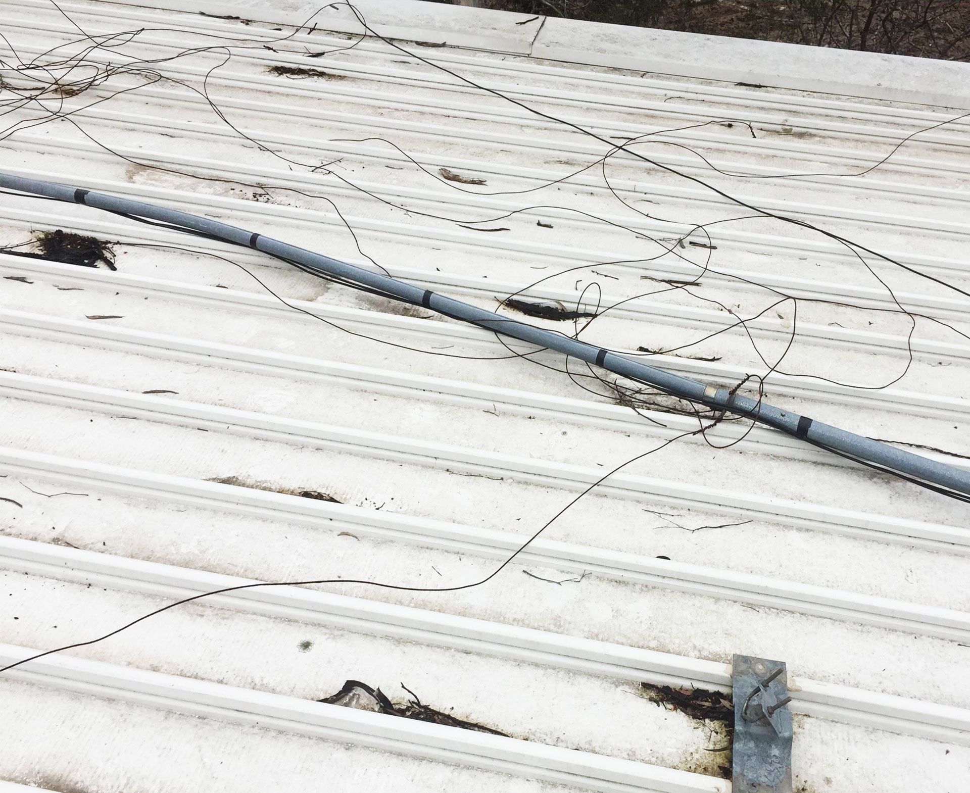 Repairing Guyed Masts Strong Wind And Storm Damage