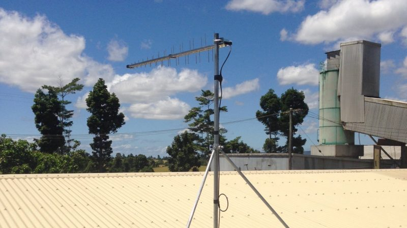 Wide Band Log Periodic Antenna Installation