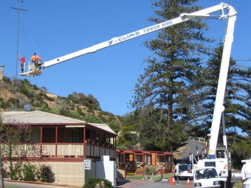 Antenna Install at Hove Caravan Park in Adelaide