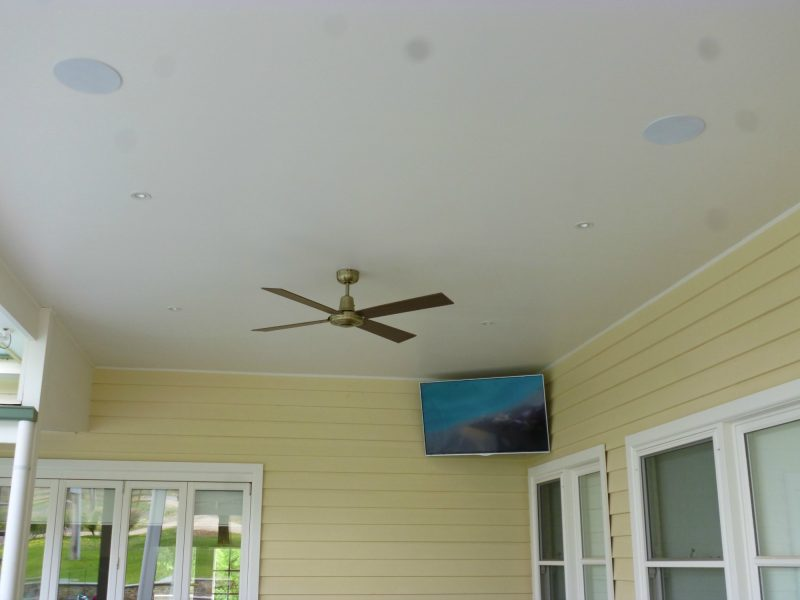 TV Wall Mount to Outdoor Area