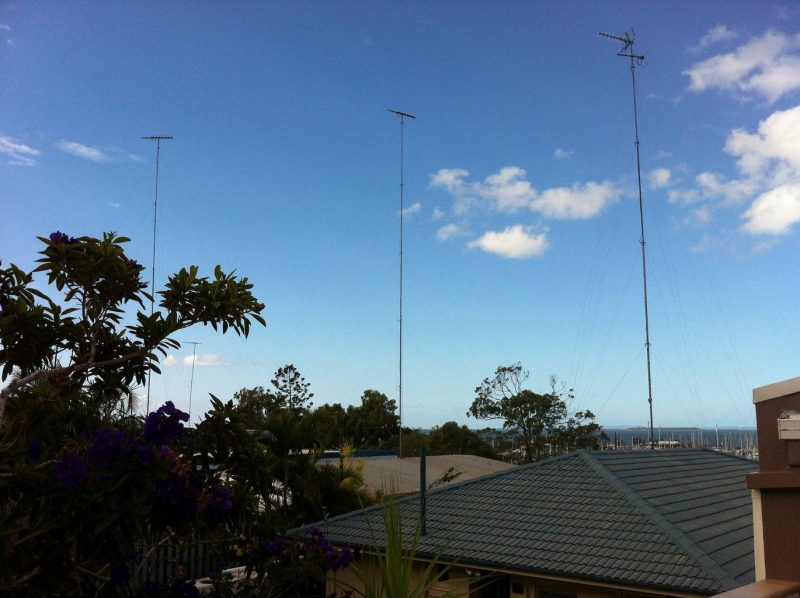 Recent Storm damage in Brisbane to tall TV masts no problem for Jim's Antennas Wynnum
