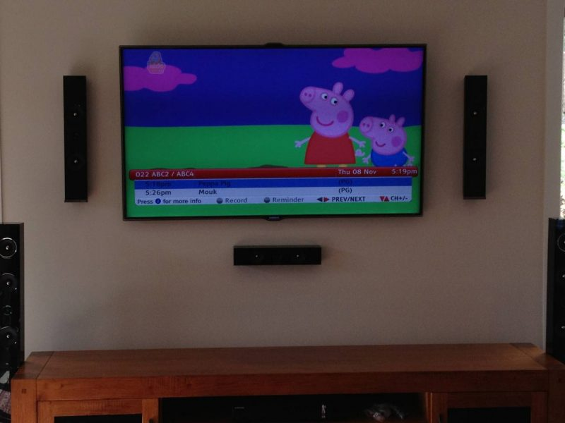 Tv And Speaker Wall Mount In Greensborough