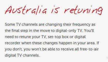 Message From Jim's Antennas – Australia Is Retuning