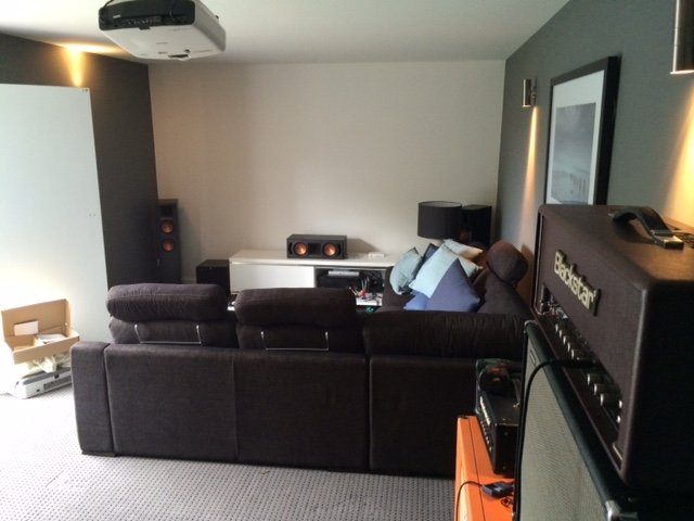 Man Shed Transformed Into Home Theatre Room