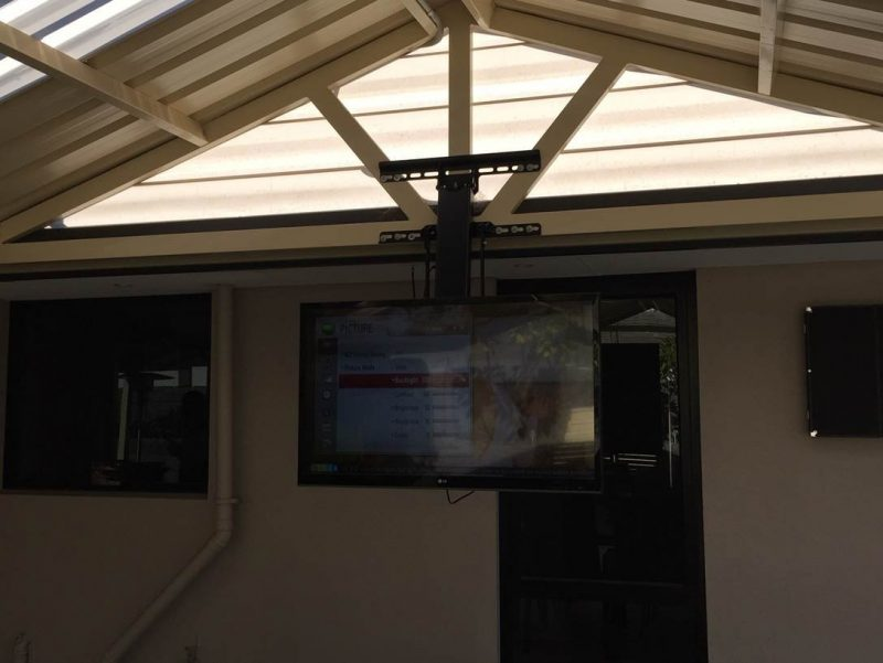 See The Footy From Any Angle With A Retractable TV Mount