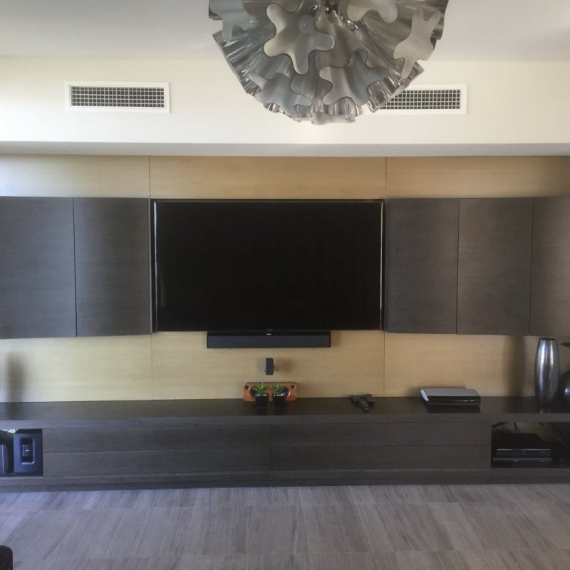 Wall Mounted TVs And Concealed Cabling – Looks Great!