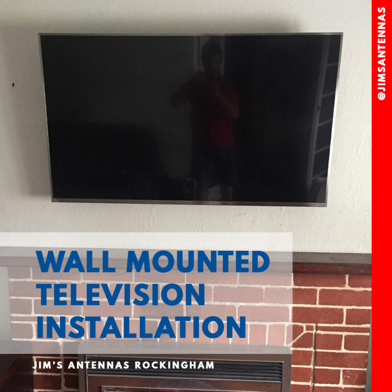 TV Wall Mount above Fireplace