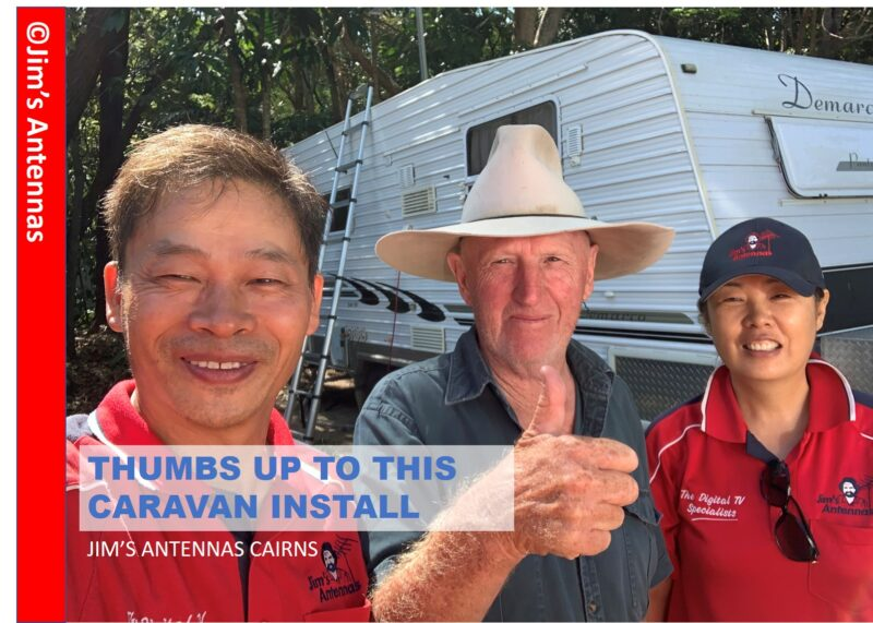 Caravan Antenna Install in Cairns