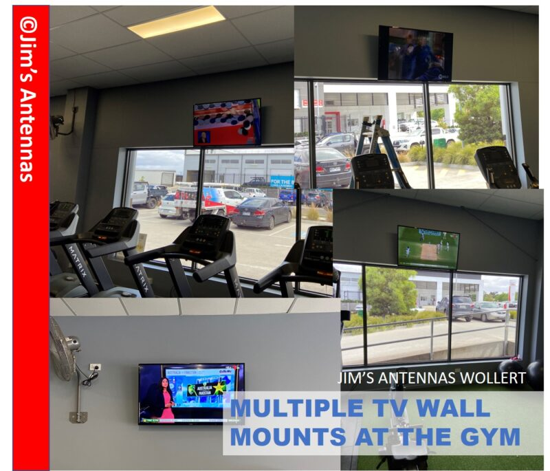 Multiple TV Wall Mounts at the Gym