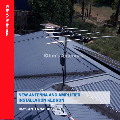 NEW ANTENNA AND AMPLIFIER INSTALLATION IN KEDRON