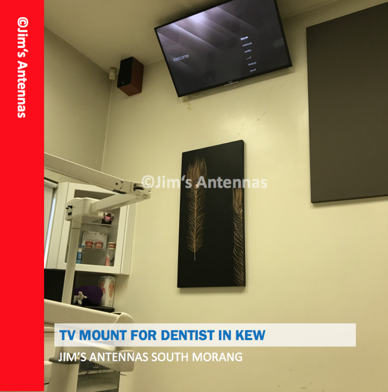 TV WALL MOUNT FOR DENTIST IN KEW