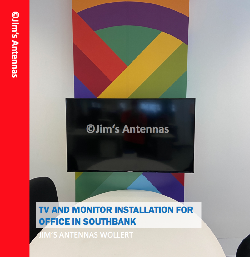 TV AND MONITOR INSTALLATION FOR OFFICE IN SOUTHBANK