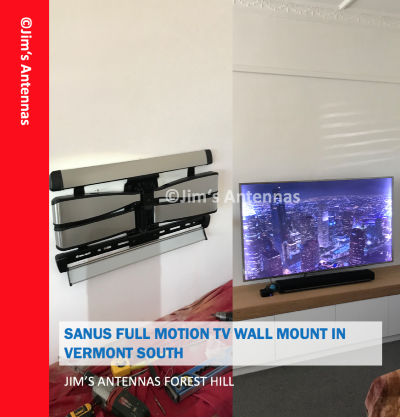SANUS FULL MOTION TV WALL MOUNT IN VERMONT SOUTH