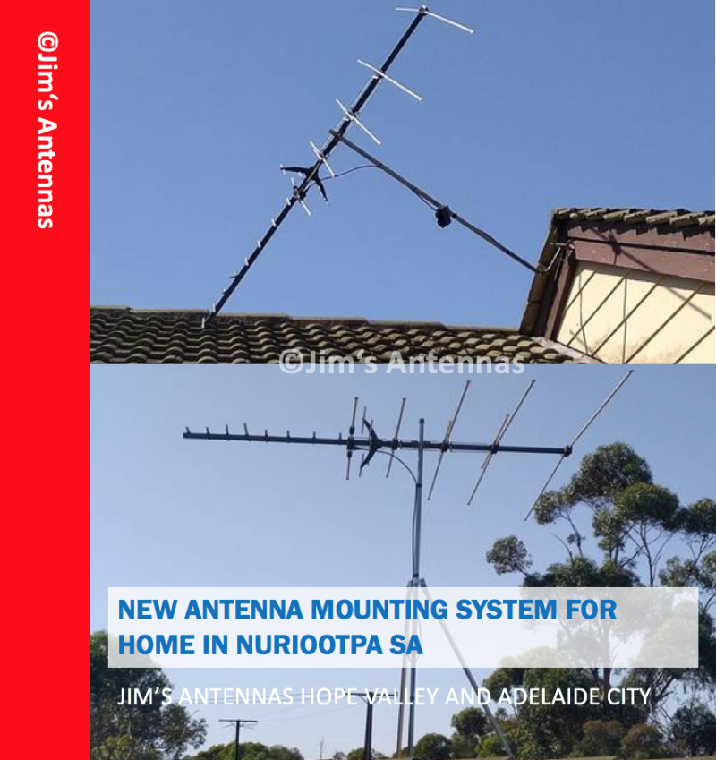 NEW ANTENNA MOUNTING SYSTEM FOR HOME IN NURIOOTPA SA