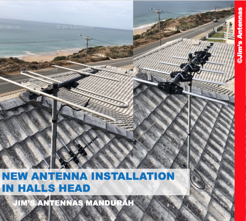 NEW ANTENNA INSTALLATION HALLS HEAD