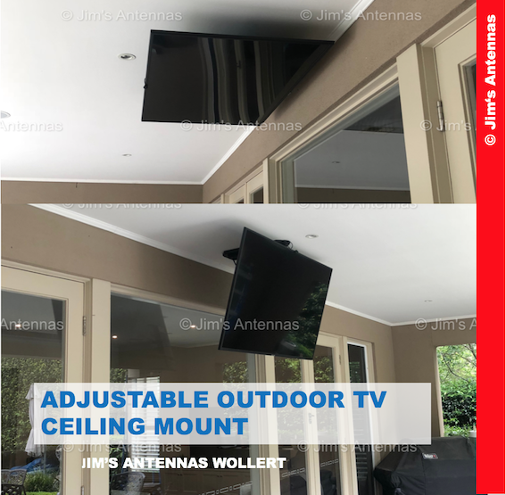 ADJUSTABLE OUTDOOR TV CEILING MOUNT