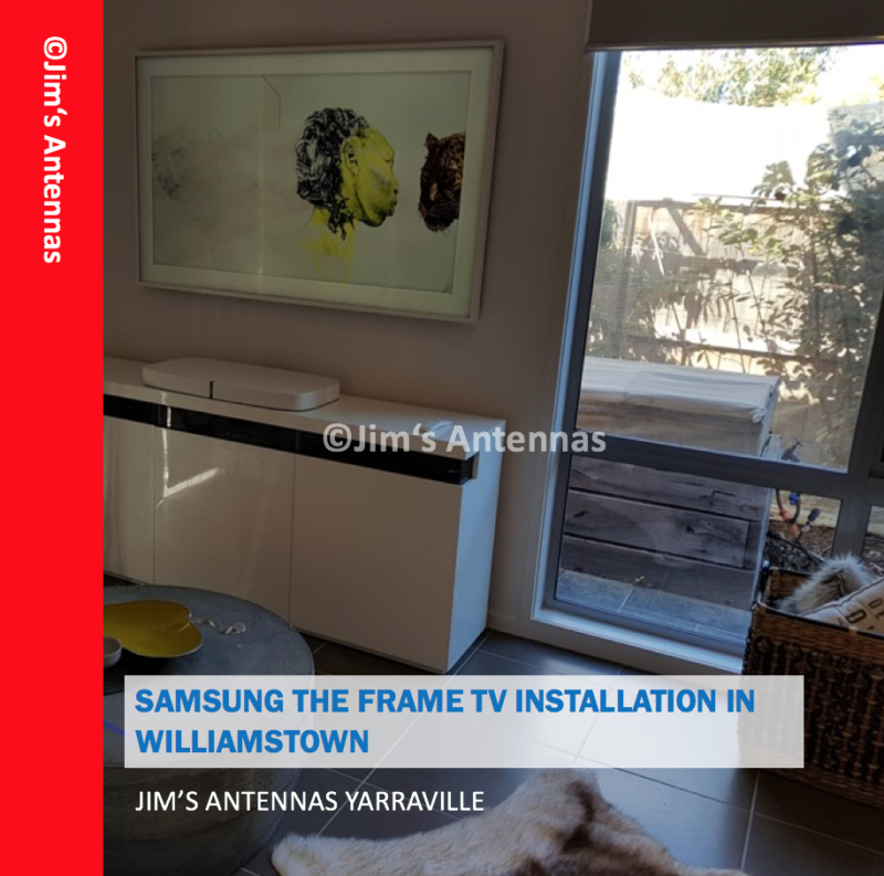 SAMSUNG'S 'THE FRAME' TV INSTALLATION IN WILLIAMSTOWN