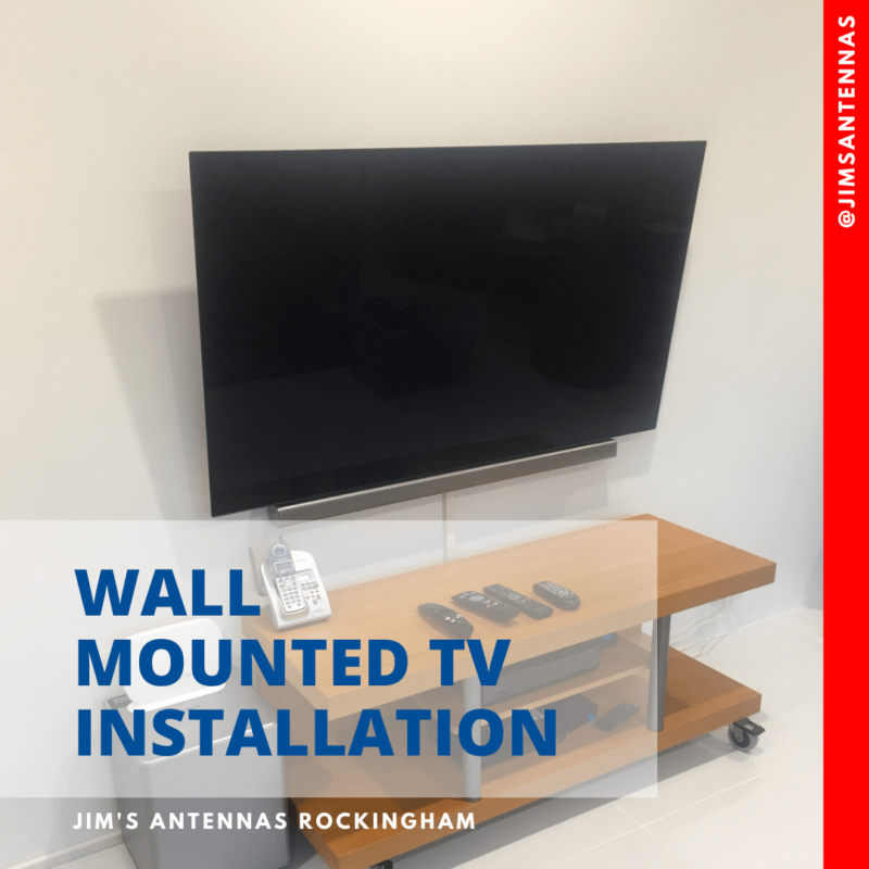 Wall Mounted 65″ TV & Sound Bar!