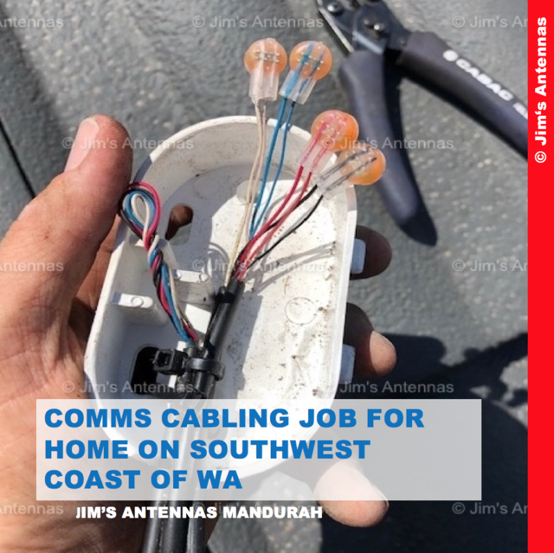 COMMS CABLING JOB FOR HOME ON SOUTHWEST COAST OF WA