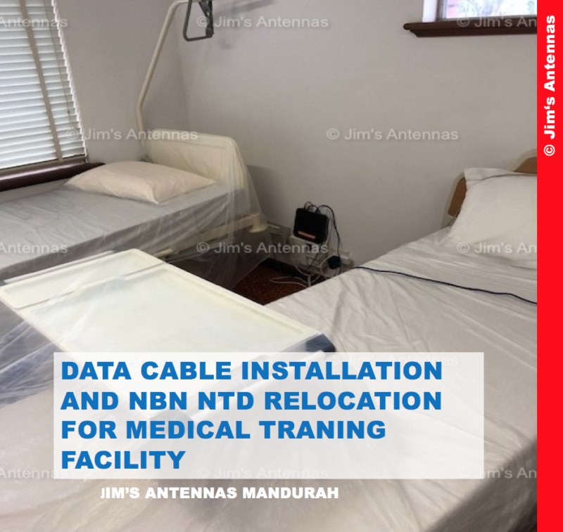 DATA CABLE INSTALLATION AND NBN NTD RELOCATION FOR MEDICAL TRAINING FACILITY
