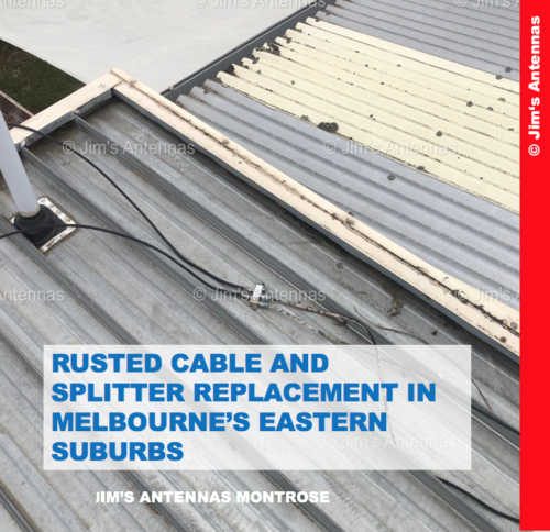 RUSTED CABLE AND SPLITTER REPLACEMENT IN MELBOURNE'S EASTERN SUBURBS