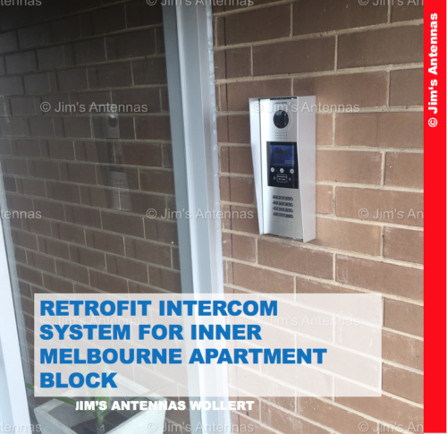 RETROFIT INTERCOM SYSTEM FOR INNER MELBOURNE TEN-UNIT APARTMENT BLOCK
