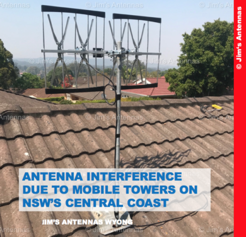 ANTENNA INTERFERENCE DUE TO MOBILE TOWERS ON NSW'S CENTRAL COAST