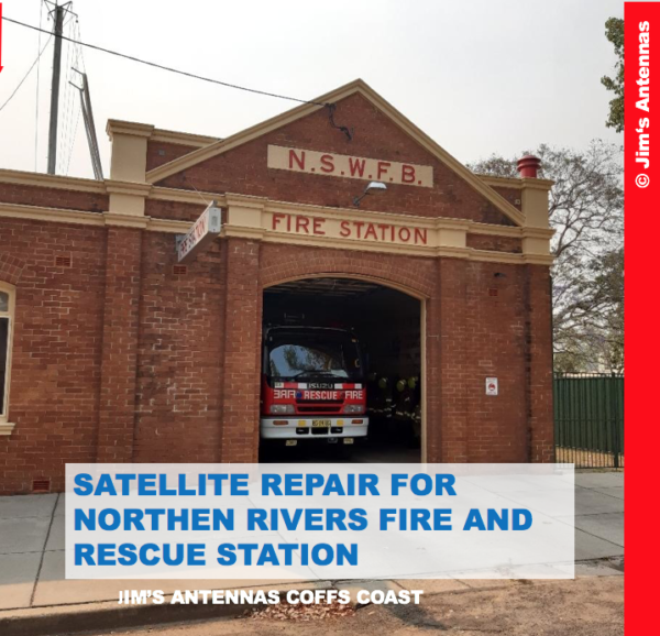 Satellite Repair for Northern Rivers Fire and Rescue Station