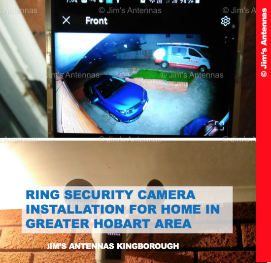 RING SECURITY CAMERA INSTALLATION FOR HOME IN GREATER HOBART AREA