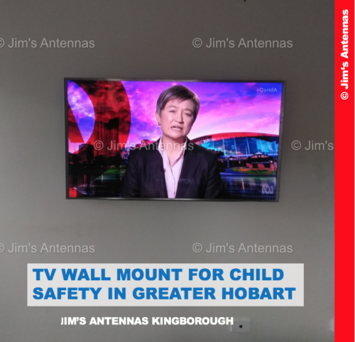 TV WALL MOUNT FOR CHILD SAFETY IN GREATER HOBART