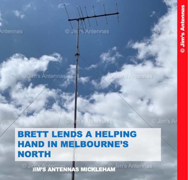 BRETT LENDS A HELPING HAND IN MELBOURNE'S NORTH