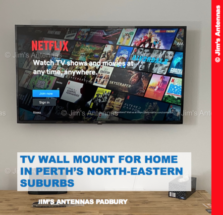 TV WALL MOUNT FOR HOME IN PERTH'S NORTH-EASTERN SUBURBS