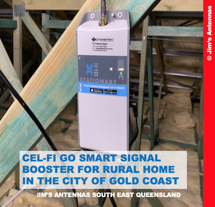 CEL-FI GO SMART SIGNAL BOOSTER FOR RURAL HOME IN THE CITY OF GOLD COAST
