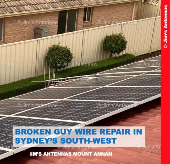 BROKEN GUY WIRE REPAIR IN SYDNEY'S SOUTH-WEST