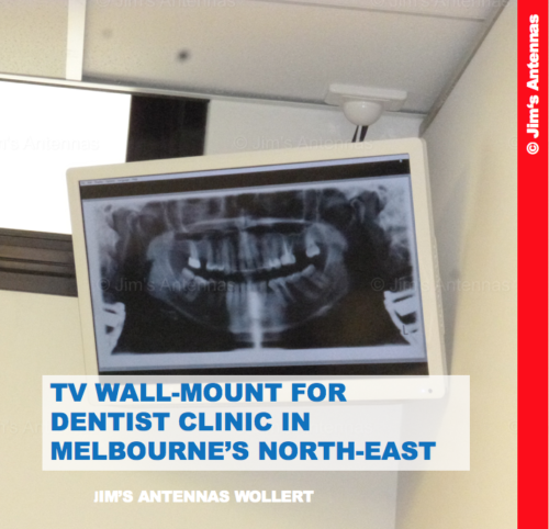TV WALL-MOUNT FOR  DENTIST CLINIC IN MELBOURNE'S NORTH-EAST