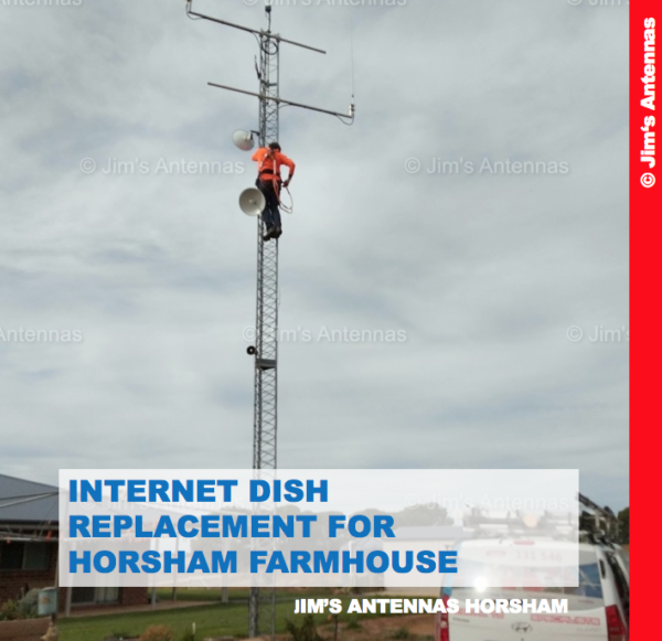 INTERNET DISH REPLACEMENT FOR HORSHAM FARMHOUSE