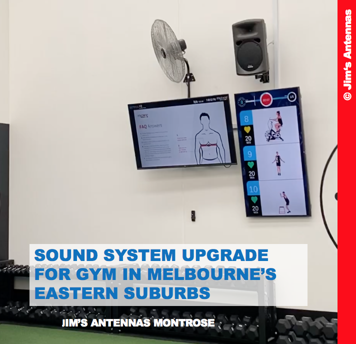 SOUND SYSTEM UPGRADE FOR GYM IN MELBOURNE'S EASTERN SUBURBS