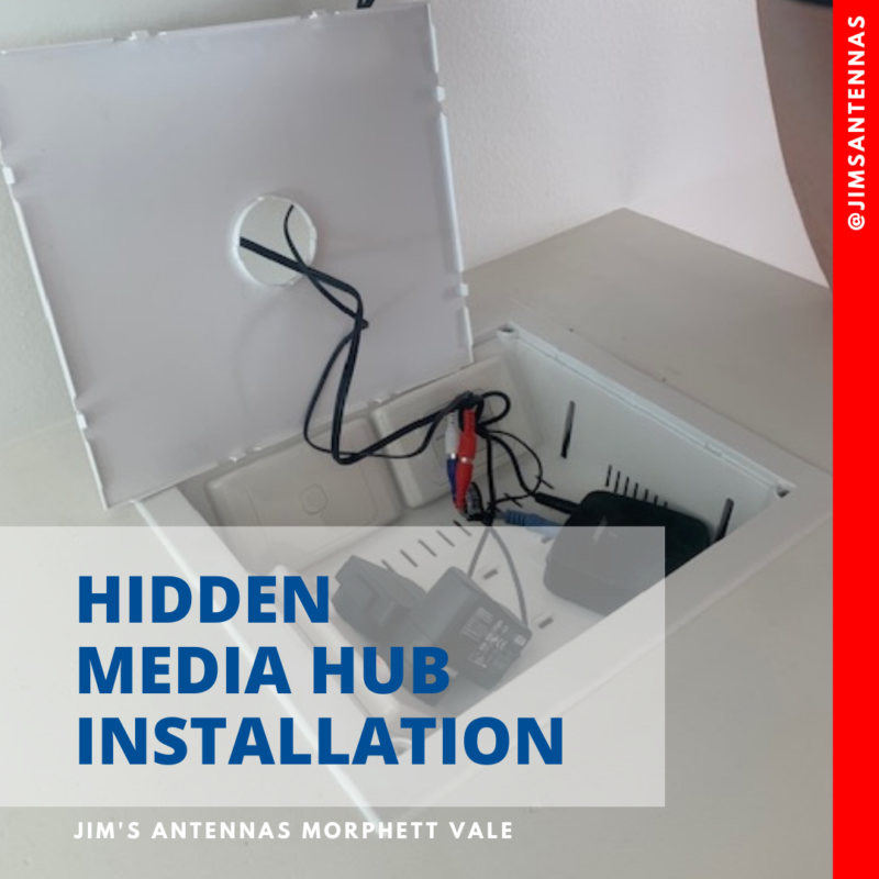 Hidden media hub installation.