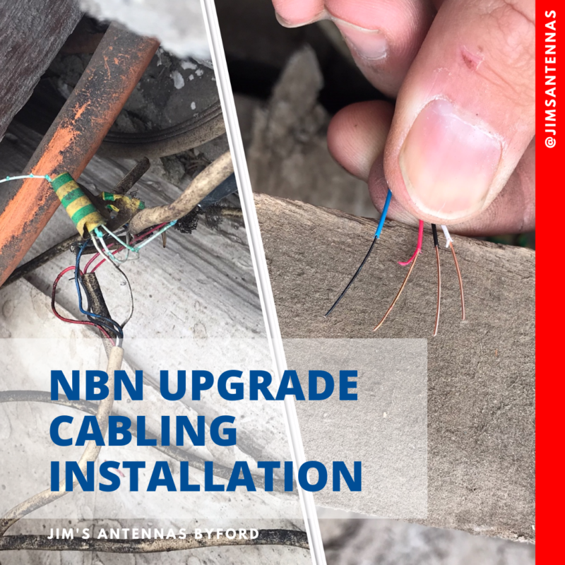 NBN upgrade cabling installation in Parkwood.
