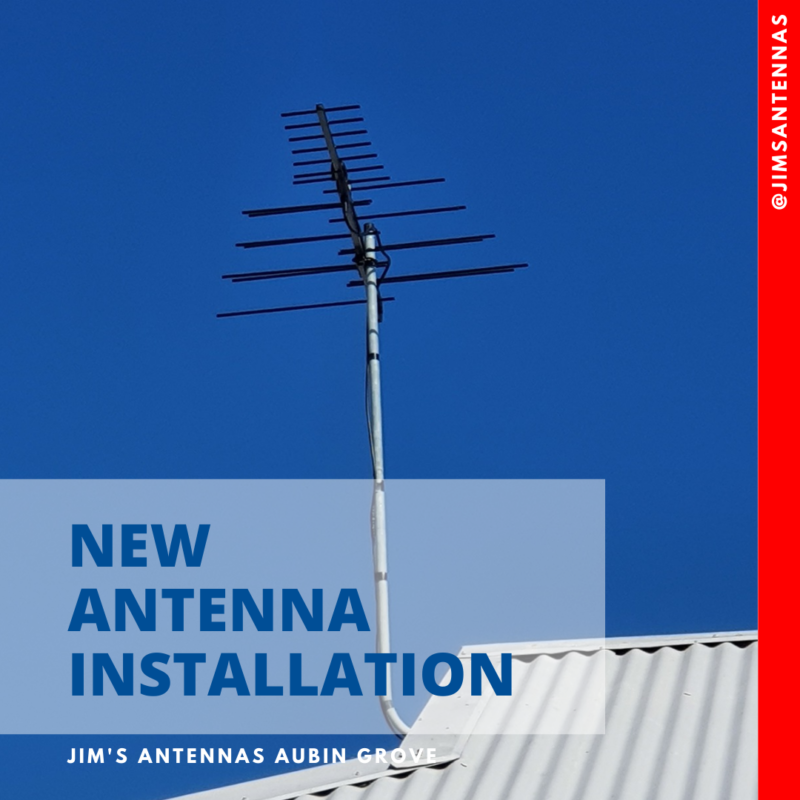 Antenna installation in Fremantle