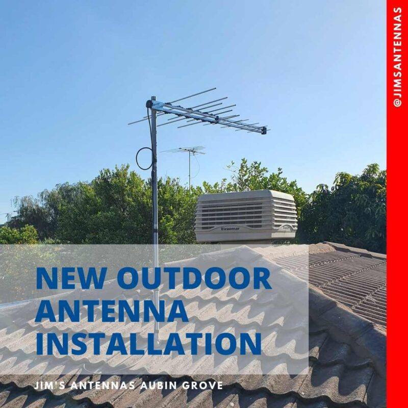 Outdoor antenna installation in Parmelia.