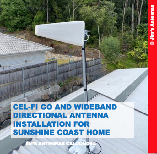 Cel-Fi Go and Wideband Directional Antenna Installation for Home in the Sunshine Coast