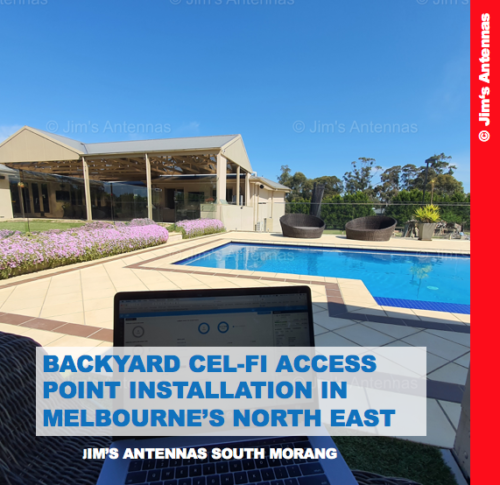 Backyard Cel-Fi Access Point Installation in Melbourne's North East