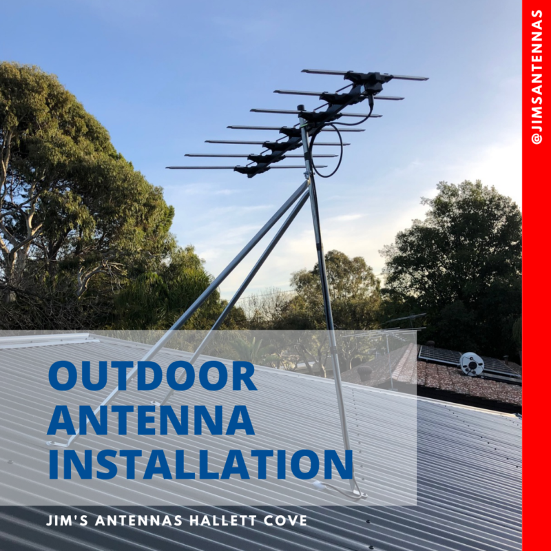 Outdoor antenna installation in Aberfoyle Park