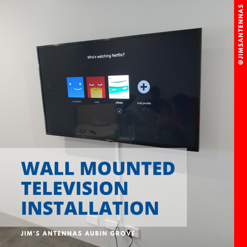 Wall mount flat screen TV in Karindinya