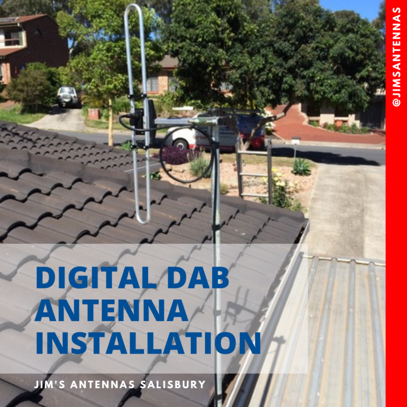 Digital DAB antenna installation.