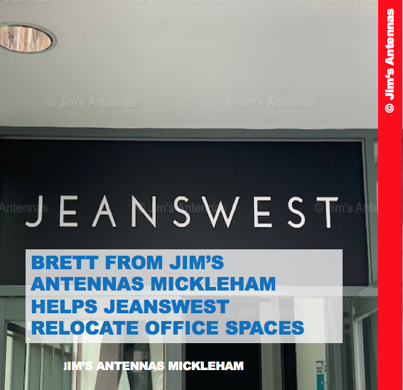 Brett From Jim's Antennas Mickleham Helps Jeanswest  Relocate Their Office Spaces