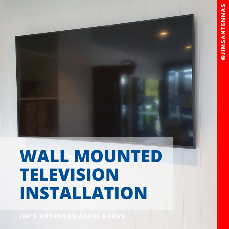Wall mount television installation in Coogee